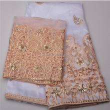 Exquisite George Wrappers With Blouse George Fabric Matching Tulle Lace
