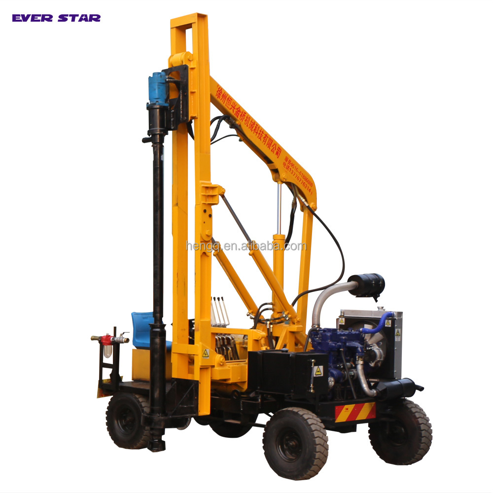 Highway ground screw Guardrail Hydraulic static Pile driver for Installing Steel Concrete Posts