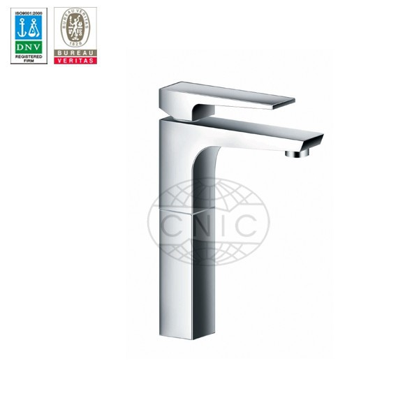 Chrome Plated Single Handle Basin tuscany faucets