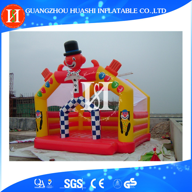 Cheap price Clown Cartoon PVC0.55mm inflatable jumper / bouncer / bouncy castle for sale HS1116