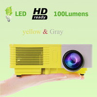 Wireless Home Theater 3D 100lumens 1080P HD HDMI Video LCD LED Mini Projector For Mobile Phone Iphone Ipad Tablet