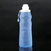 Travel Bpa free sports drinking silicone sports water bottle,collapsible folding water bottle