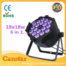 LED indoor unwaterproof stage RGBWA UV 6 in 1 par can led 18*18w/waterproof led par light