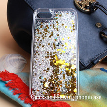 Import mobile phone accessories small moq mobile phone cover for iphone7 liquid glitter water phone case
