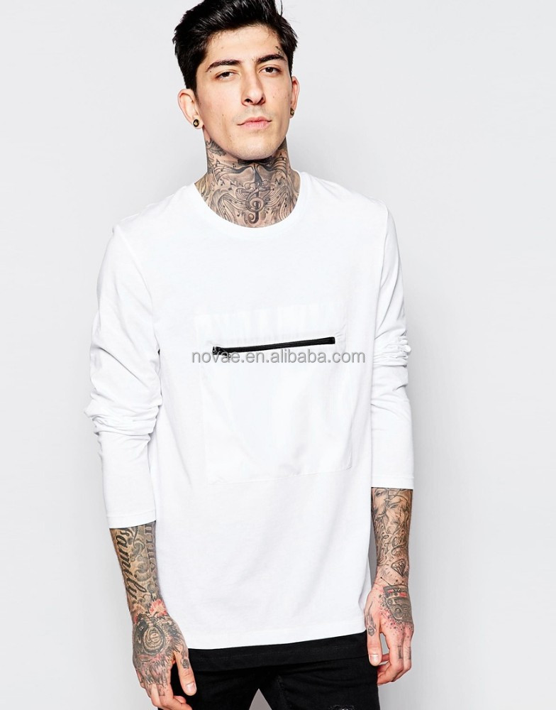 2015 china wholesale mens long sleeve t shirt zipper front for Custom long sleeve shirts cheap