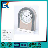New arrived hotel high quality leather desktop alarn clock for sales