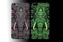 For iPhone 5 Creative Luminous Animal Elephant Hard Case