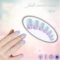 Beautdy product flower design color ABS artificial nail tips full cover color christmas false fingernail art tips