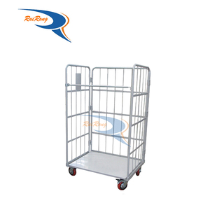 multi-function metal folding pallet pack and roll trolley with wheels