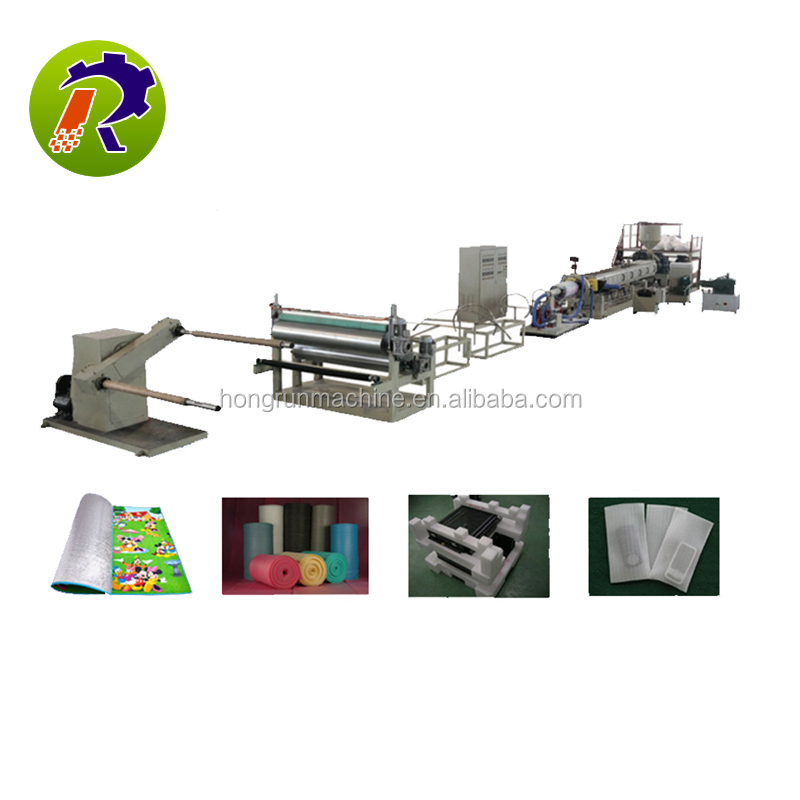 EPE foam sheet machine ce certification plastic extrusion machine 6-80mm diameter epe foam rod production line