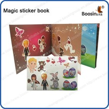 Reusable Magic Sticker book for kids learn and play