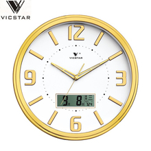 office digital round LCD calendar flip wall clock