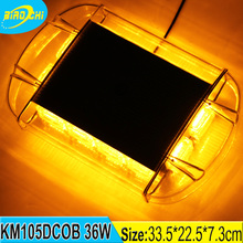 36W car roof mini strobe bar traffic road safety aluminum pc housing amber LED COB warning light bar