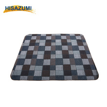 Hisazumi 2016 fashionable tweed patchwork blanket comfortable sherpa blanket OEM&ODM