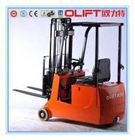 3-ponit Battery forklift 1.5 ton DC electric forklift Truck