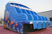 CILE Attractive Outdoor Amusement Water Park Inflatable Wave Slide for Sale