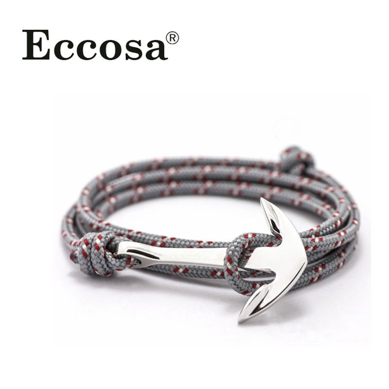 The Classical Punk style Paracord Anchor Bracelet for Mens Jewelry