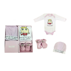 100% cotton french design baby shower favored gift set for newborn babies