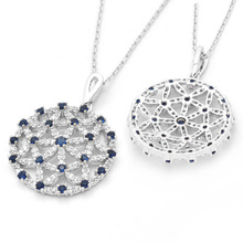 Wholesale italy Blue CZ Micro Pave filigree pendant jewelry fiddings for DIY 25*27MMWX2711