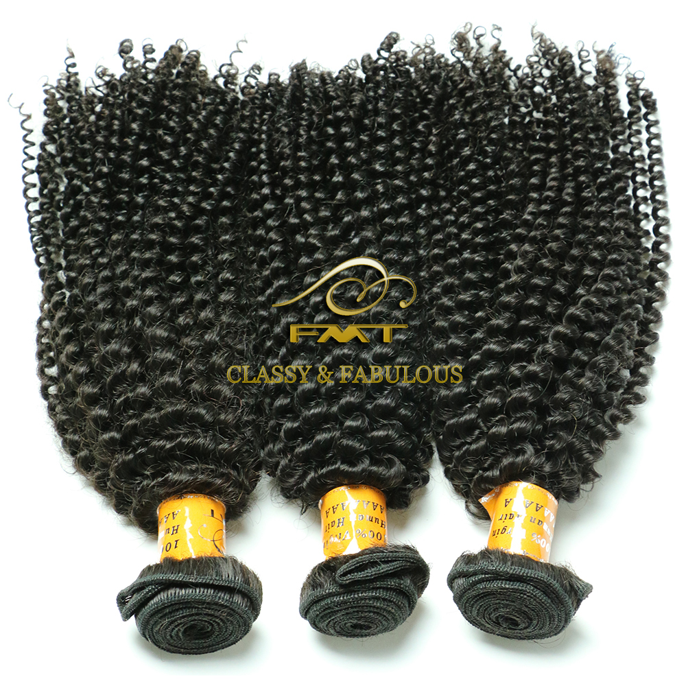 FMT Wholesale Soft Unprocessed Kinky Curly Halo Hair Extension Hot Hair Bulk Products