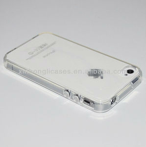 Wholesale Crystal Clear Silicon TPU Soft Full Cover Case For iPhone 4 4S 4G New