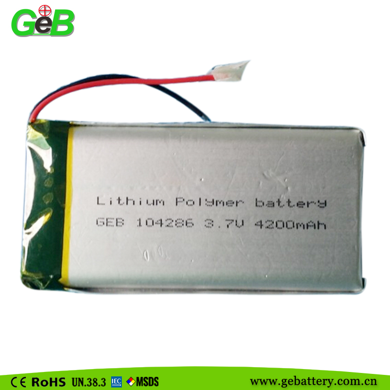 GEB 104286 3.7v 4200mah lithium Rechargerable polymer battery cells for mobile Phone