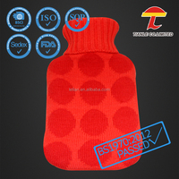 BS hot water bottle with glittering star cover