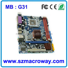 used computer motherboard G31 with core 2 duo ,quad core