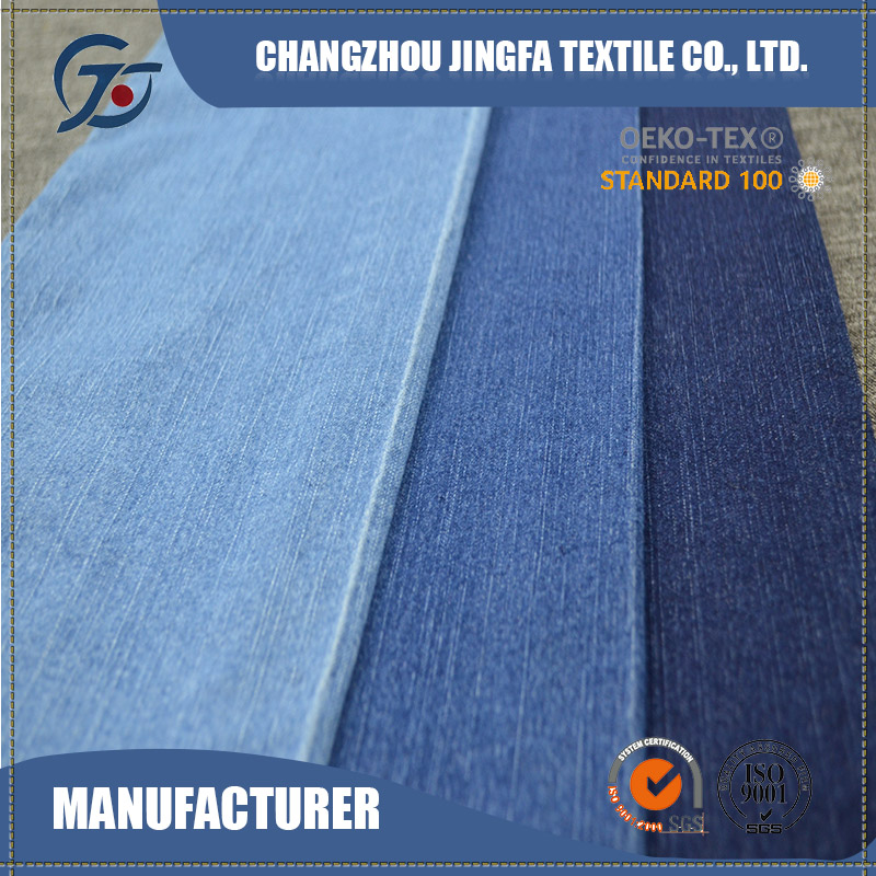 custom printed large yard polyester denim fabric