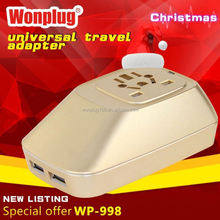 2014 top sale high quality world travel adapter personalized wedding favors and gifts