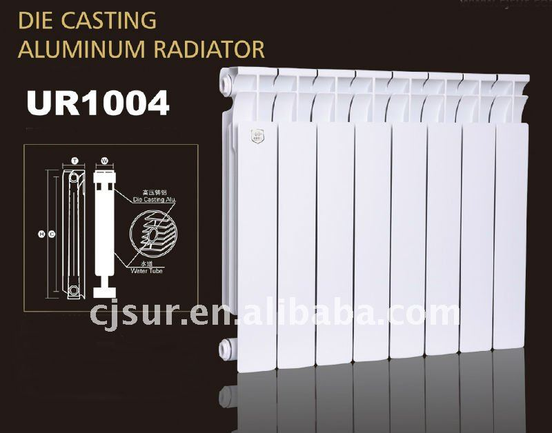 GOST Certificated High Heating Efficiency Heater 500CC Die Cast Aluminum Hot Water Radiator UR1004-500