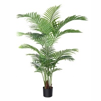 160cm 5.3Ft Potted Fake Palm Tree Artificial Greenery Plants Decorative Trees for Home Office Lobby