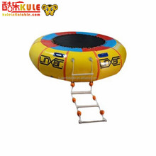 Kule pvc hot selling inflatable water jumping round bed for adults