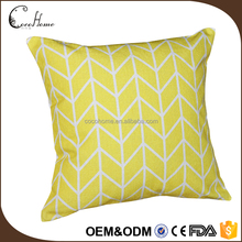 2017 home decorative plain natural yellow hemp linen cushion for bed use