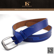 New fashion femal leather belt with stitching