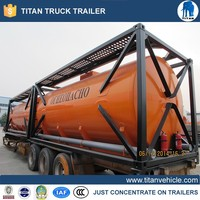 20ft bitumen Storage tank container with heating system for bulk bitumen factory