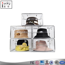 Acrylic hat display box , clear display showcase supplier