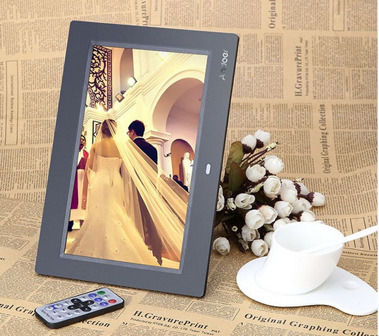 White Black Color Full HD LCD Screen Display Picture Frame 10 Inch Women Sex Photo Frame