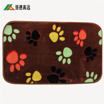 2017 new trendy colorful anti skid printed foot mat with loop pile for bedroom