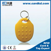 Eco-friendly meterial TK4100 programmable 125khz rfid tags for key fob