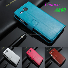 Luxury Ultra Flip Smart Case Cover for Lenovo A860 leather sleep function phone cases