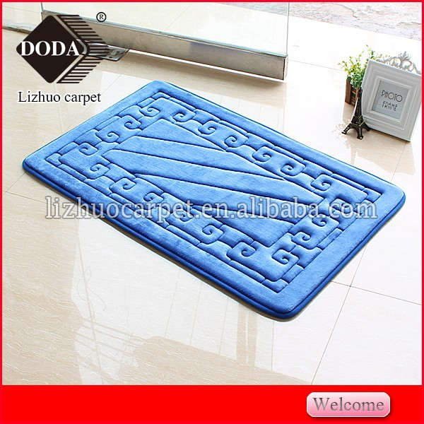 2015 memory foam pad microfiber printed bath mat super soft waterproof