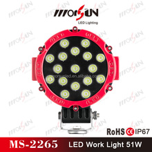 2 X 51w led work light Spot lamp Driving 12v Car 4x4 accessories 51watts super bright auto led work light