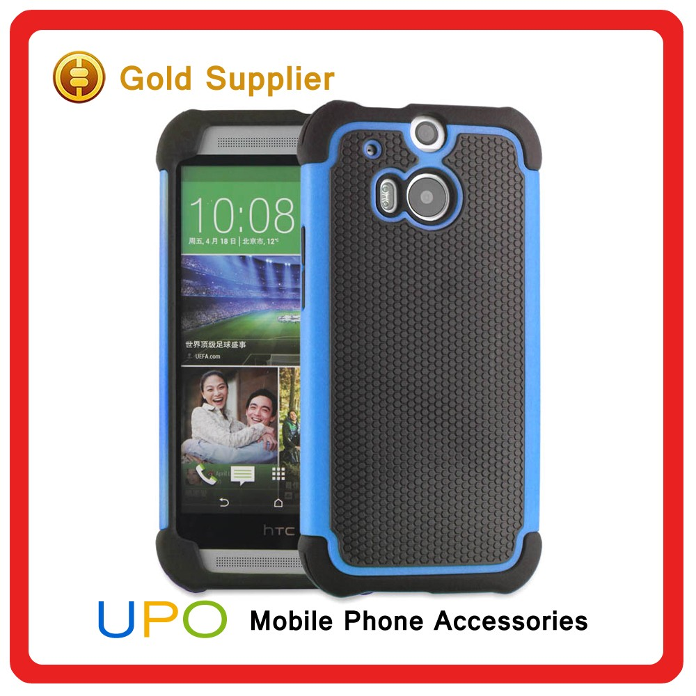 [UPO] High Quality Protective Hard Plastic Silicon Back Covers Case for HTC One M8 Plus