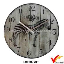 horse number vintage retro description for a wall clock