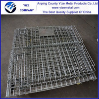 stolockable square metal wire mesh storage box/mesh box
