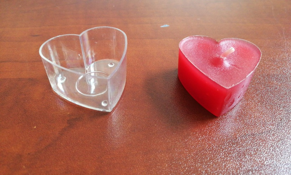 15g heart shaped votive tealight candles