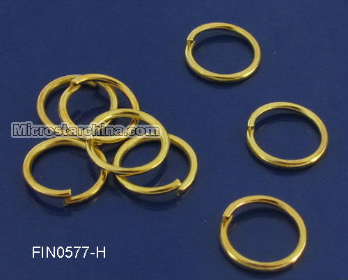 500Pcs Gold Plated Open Metal Jump Ring 12*1.2mm In Stock