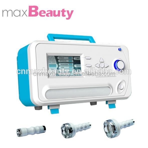 Home use portable radiofrequency and vacuum equipment for skin tightening device