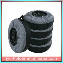 pu leather spare tire cover ,H0T014 custom spare tire cover , polyester storage tire cover